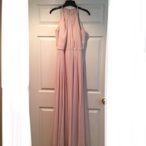 After six Sand color evening dress style # 6704